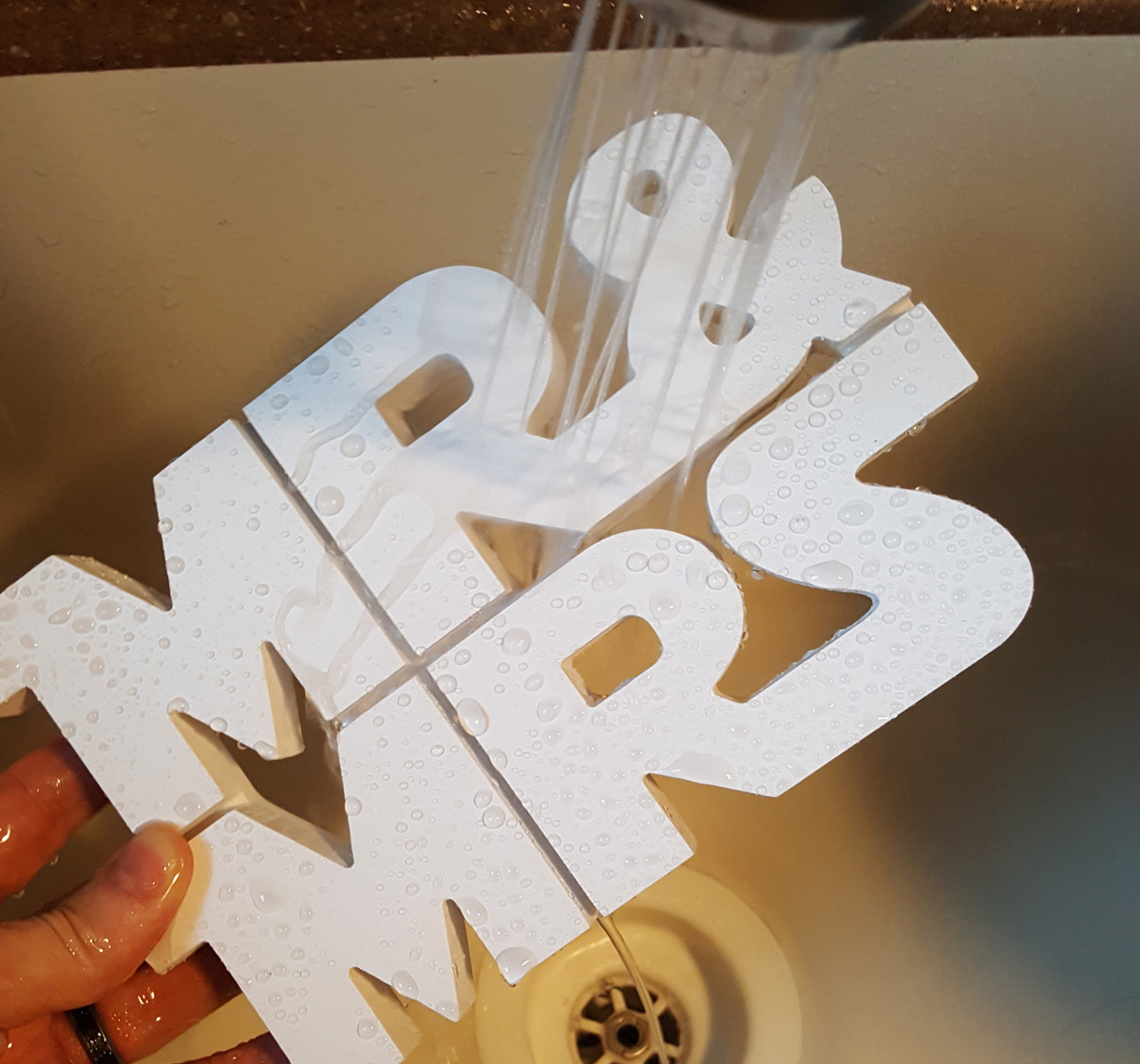 Mr & Mrs Star Wars Font Wedding Table Centerpiece