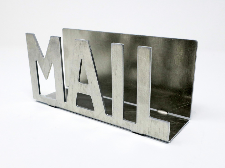 metal letter holder metal mail amp letter holder rustic organizer mail 16618