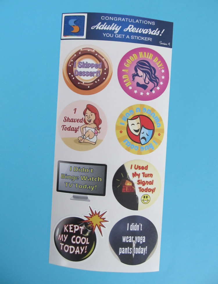 8 adult reward stickers series 4 you adulted today